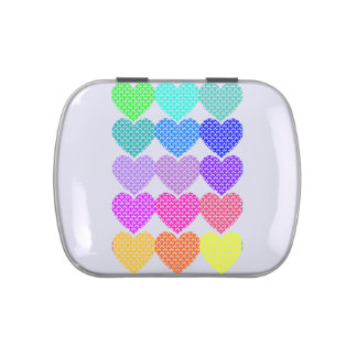 Awareness Ribbon Hearts - Pill Container Jelly Belly Candy Tins