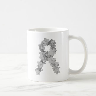 Awareness Ribbon In Gray/Silver Coffee Mug