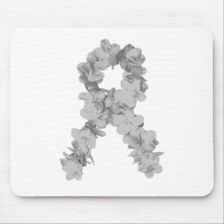 Awareness Ribbon In Gray/Silver Mouse Pads
