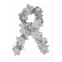 Awareness Ribbon In Gray/Silver Postcard