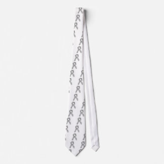 Awareness Ribbon In Gray/Silver Tie