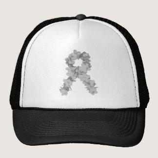 Awareness Ribbon In Gray/Silver Trucker Hat
