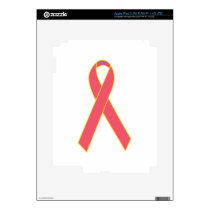 Awareness Ribbon iPad 3 Decal