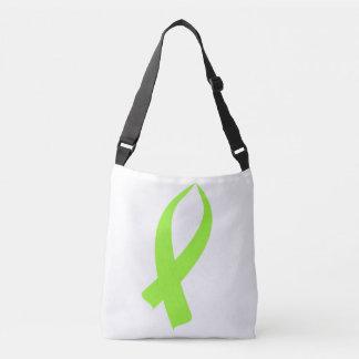 Awareness Ribbon (Lime Green) Crossbody Bag