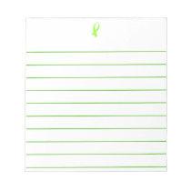 Awareness Ribbon (Lime Green) Notepad