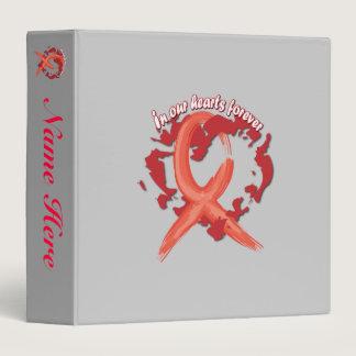 """Awareness Ribbon """"Memories"""" Scrapbook /Photo Album Binder"""