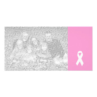 Awareness Ribbon on Pink Photo Card
