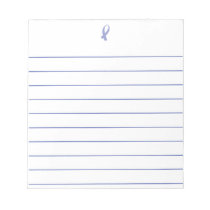 Awareness Ribbon (Periwinkle) Notepad