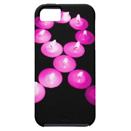 Awareness Ribbon Pink Candles iPhone 5 Case