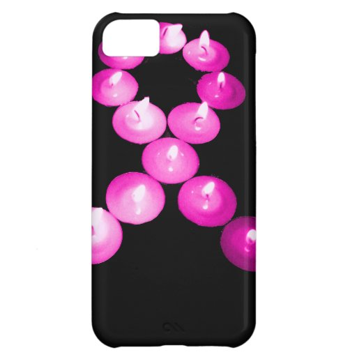 Awareness Ribbon Pink Candles Cover For iPhone 5C