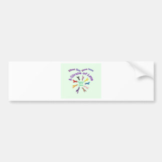 Awareness Ribbon Products Bumper Sticker