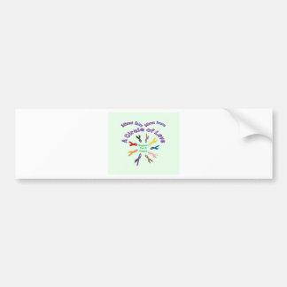 Awareness Ribbon Products Bumper Sticker