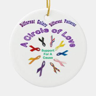 Awareness Ribbon Products Ceramic Ornament