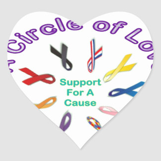 Awareness Ribbon Products Heart Sticker