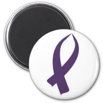 Awareness Ribbon (Purple) Magnet