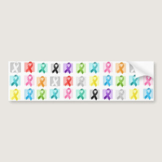 Awareness Ribbons Bumper Sticker