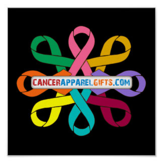 Awareness Ribbons by CancerApparelGifts.Com Poster