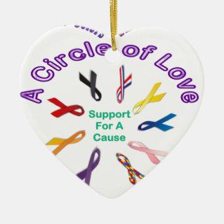 Awareness Ribbons Ceramic Ornament