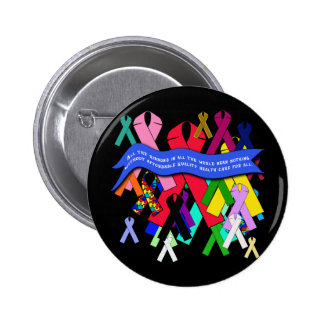 Awareness Ribbons for Universal Health Care 2 Inch Round Button