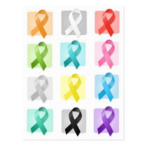 Awareness Ribbons Postcard