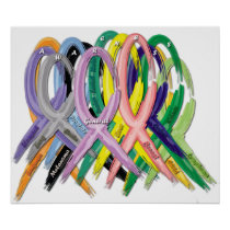 AWARENESS Ribbons Poster