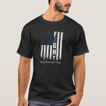 Awareness Suicide Prevention Ribbon FIGHT American T-Shirt