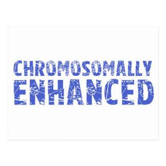 Awareness tee Chromosomally enhanced Postcard