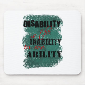 Awareness tee disability is copy mouse pad