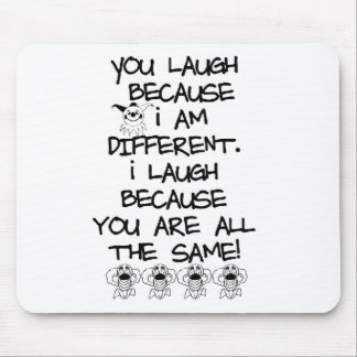 Awareness tee I am different Mouse Pad