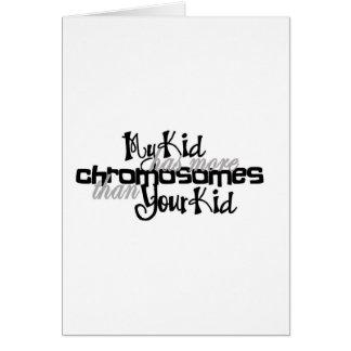 Awareness tee more chromosomes card