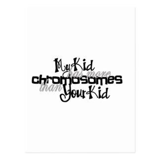 Awareness tee more chromosomes postcard