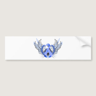Awareness Tribal Blue Bumper Sticker