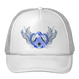 Awareness Tribal Blue Trucker Hat