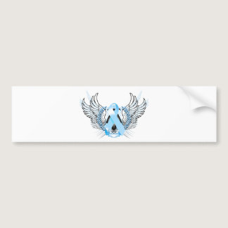 Awareness Tribal Light Blue Bumper Sticker