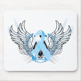 Awareness Tribal Light Blue Mouse Pad