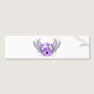 Awareness Tribal Purple Bumper Sticker