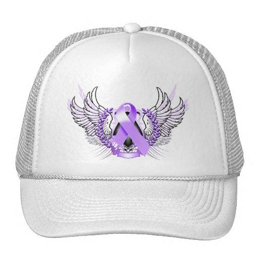 Awareness Tribal Purple Trucker Hat