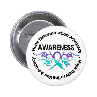Awareness Tribal Ribbon Domestic Violence Button