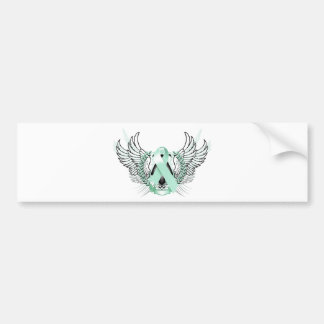Awareness Tribal Teal Bumper Sticker