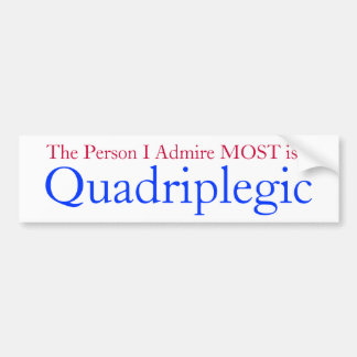 awarness de los quadriplegics etiqueta de parachoque