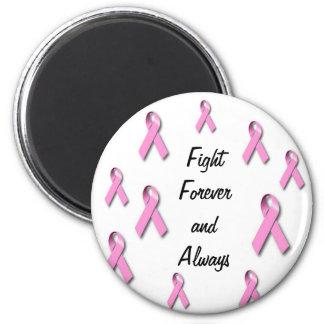 Awarness del cáncer de pecho appearal imán redondo 5 cm