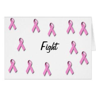 Awarness del cáncer de pecho appearal tarjeta de felicitación