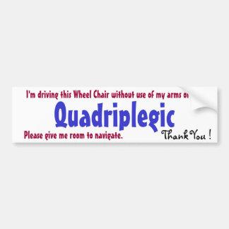 awarness del quadriplegic pegatina de parachoque
