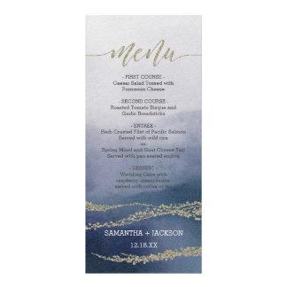 Awash Elegant Watercolor in Surf Wedding Menu