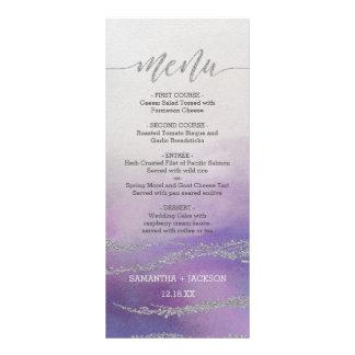 Awash Elegant Watercolor Orchid Wedding Menu