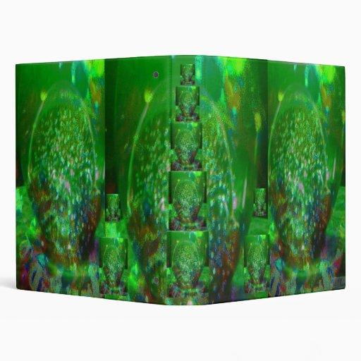 Awash in Cosmic Green, 3 Ring Binders