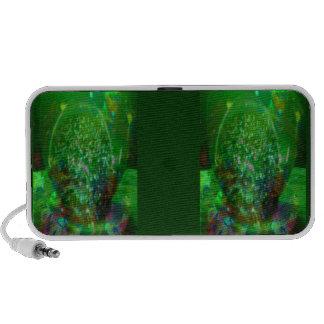 Awash in Cosmic Green Travelling Speakers