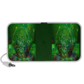 Awash in Cosmic Green iPod Speaker