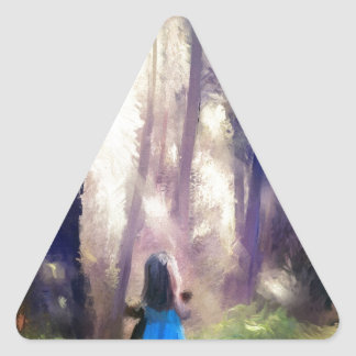 Awash with angels NEW.jpg Triangle Sticker