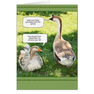 Away from the quacks card